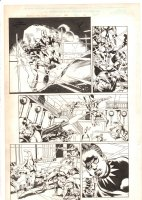 Black Panther #36 p.14 - Black Panther's daughter and the White Wolf - 2001 Signed Comic Art