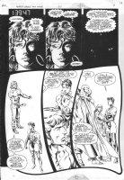 Justice League Task Force #20 p.9 - Sexy heroine & Martian Manhunter Comic Art