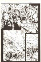 Superior Spider-Man #23 p.2 - Spidey (Otto Octavius) and Venom (Flash Thompson) - 2014 Signed Comic Art