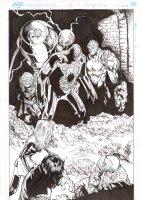 Extraordinary X-Men #8 p.20 - Old Man Logan, Anole, Ernst, Glob Herman, & No-Girl Splash - 2016 Comic Art