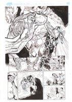 Extraordinary X-Men #10 p.4 - Horseman Colossus punches Glob Herman - 2016 Comic Art