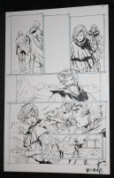 He-Man and the Masters of the Universe #? p.8 - He-Man with Babe at Mountain - 2013 Signed  Comic Art