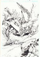 Bionicle Glatorian #1 p.2 - Battle Splash - 2009 Comic Art