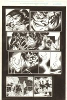 Ghost Rider #84 p.17 - Scarecrow Burns Down House with Person In It - 1997 Signed Comic Art
