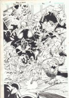 Teen Titans #30 p.14 - Team Action Splash - 2006  Comic Art