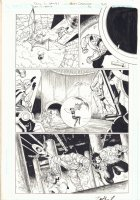 Teen Titans #36 p.20 - Cyborg Action - 2006 Signed Comic Art