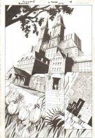 Batman #676 p.18 - Arkham Asylum Splash - 2008 Comic Art