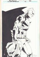 Detective Comics #12 p.20 - Great Batman Splash - 2012 Signed Comic Art