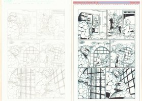 Fantastic Four #512 p.10 - Pair of Pencil and Ink Pages - 2004 Comic Art