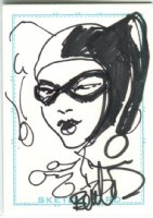Harley Quinn Card Art - 2006 Signed Comic Art