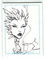 Poison Ivy Card Art - 2006 Signed Comic Art