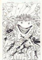 Batman and Robin #31 Variant Cover - 1966 Adam West Batman and Robin vs. Joker Monster - 2014 Signed Comic Art