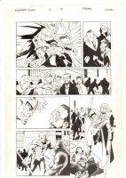Wildstorm! #3 p.8 - Union Action & Man in Gorilla Suit - 1995 Signed Comic Art