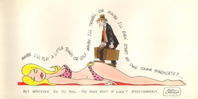 Artist: Mel Casson - Sexy Bikini Babe Color Gag - 1979 (8.5 x 16 Comic Art