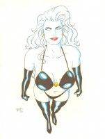 Goth White Babe Comic Art