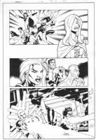 Generation X #44 p.19 - White Queen, Storm, Colossus, Iceman, & Others Action - 1998 Signed Comic Art