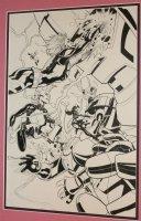 X-Men #12 Cover - Team vs. Sentinel - 2014 Comic Art