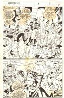 Fantastic Force #9 p.3 - Huntara 1/2 Splash - 1995 Comic Art