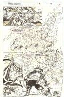 Fantastic Force #9 p.19 - Human Torch - 1995 Comic Art