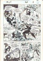 Marvel Comics Presents #146 p.5 - Doctor Strange and Nightmare vs. Salome - 1994 Signed Comic Art