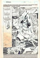 Avengers #370 p.1 - Action Splash - 1994  Comic Art