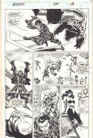 Avengers #370 p.18 - Sersi and Kingo Action - 1994 Signed Comic Art