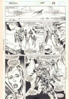 Avengers #370 p.28 - Deviant Heroes Team Action - 1994 Signed Comic Art