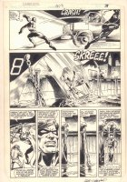 Daredevil #203 p.3 - Daredevil Action - 1984 Signed Comic Art