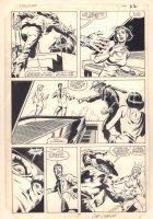 Dazzler #36 p.17 - Tatterdemalion vs. Alison Blaire (Dazzler) - 1985 Signed Comic Art
