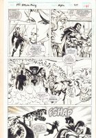 Fantastic Four: Atlantis Rising #2 p.45 -  Doctor Doom (Kristoff Vernard) and Inhumans - 1995 Signed Comic Art