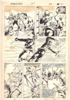 Power Man and Iron Fist #107 p.21 - PM & IF vs. Action the Hammer of Judgement - 1984 Signed Comic Art