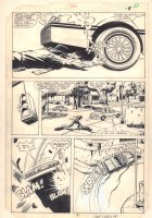 Dazzler #36 p.6 - Tatterdemalion Sabotages a Car - 1985 Comic Art