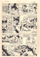 Dazzler #36 p.11 - Dazzler Escapes from Tatterdemalion Chasing Her in the Sewer - 1985 Signed Comic Art