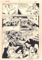Dazzler #36 p.15 - Tatterdemalion Crashes in Splash - 1985 Signed Comic Art