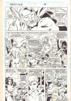 Thor Annual #17 p.4 - Thor with the Avengers - 1992 Signed Comic Art