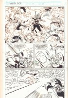 Thor Annual #17 p.15 - Thor in the Middle of a Medieval Battle - 1992 Signed Comic Art