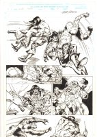 Conan: Flame and the Fiend #1 p.18 - Conan Action vs. Beast - 2000 Signed Comic Art