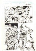 Conan: Flame and the Fiend #1 p.20 - Conan throws Isparana at Beast - 2000 Signed Comic Art