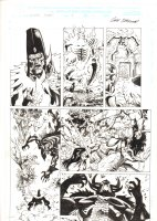 Conan: Flame and the Fiend #3 p.13 - Crazy Demons - 2000 Signed  Comic Art