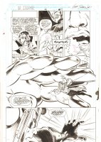 Doctor Strange, Sorcerer Supreme #42 p.17 - Doctor Strange, Nova, and Galactus - 1992 Signed Comic Art