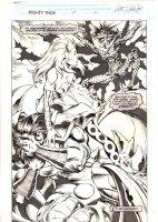 Thor #451 p.30 - Enchantress End Page Splash - 1992  Comic Art