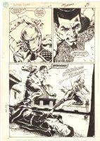 Suicide Squad #47 p.7 - Bronze Tiger vs. Judith Action - 1990 Comic Art