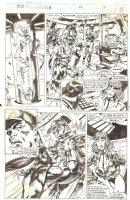 Namor the Sub-Mariner #46 p. 10 - Namor, Carrie Alexander and Lt. Ian Langstrom inside submarine - 1994 Signed Comic Art
