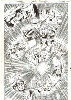 Green Arrow / Black Canary #22 p.1 - Sonic Wave by Discord Splash - 2009 Signed Comic Art