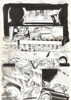 Green Arrow / Black Canary #24 p.7 - Babe Car Chase - 2009 Signed Comic Art