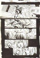 Green Arrow / Black Canary #23 p.30 - Black Canary Saves a Girl - 2009 Signed Comic Art