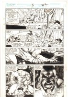 Cage #5 p.20 - Luke Cage Action - 1992 Signed Comic Art