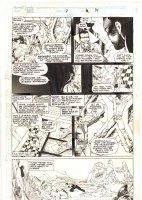 Cage #7 p.14 - Luke Cage Shackled - 1992 Signed Comic Art