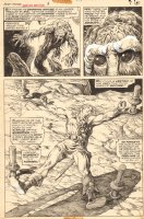Giant-Size Man-Thing #3 p.7 - Cool Man-Thing - Korrek Splash - 1975 Comic Art