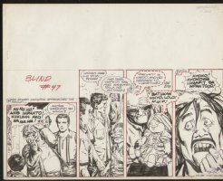 Blind Filopino  Strip 11-17-84 Comic Art